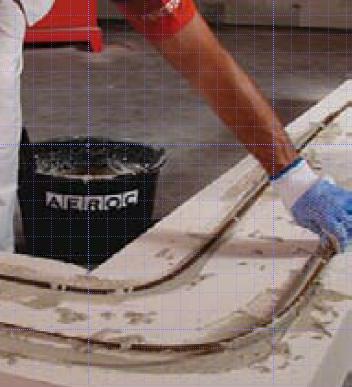 Укладка арматуры в стене из газобетона, газосиликата