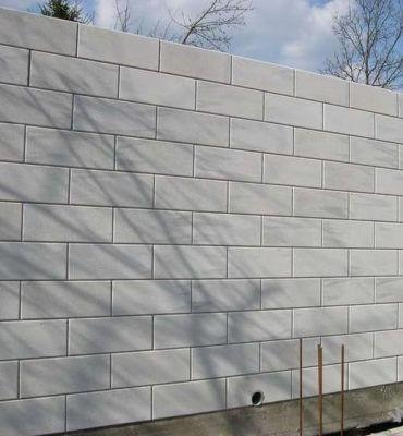 Стена из газобетонных, газосиликатных блоков с расшивкой швов