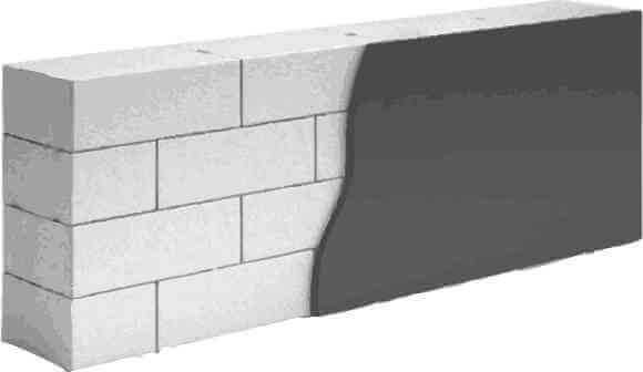 Однослойная стена из газобетонных, газосиликатных блоков