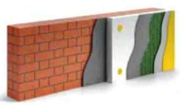 Двухслойная кирпичная стена с фасадным утеплением плитами пенополистирола