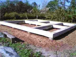 Фундамент на сваях для частного дома