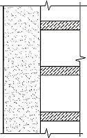 Рис.2. Самонесущая стена(перекрытие примыкает)