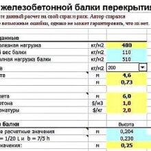 Расчет железобетонной балки сборно-монолитного перекрытия