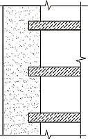 Рис1. Несущая стена(перекрытие опирается)