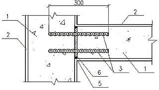 Соединение стен закладными элементами