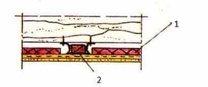 Подвесной потолок в деревянном перекрытии