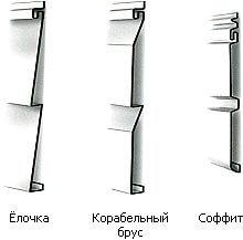 Формы профиля винилового сайдинга