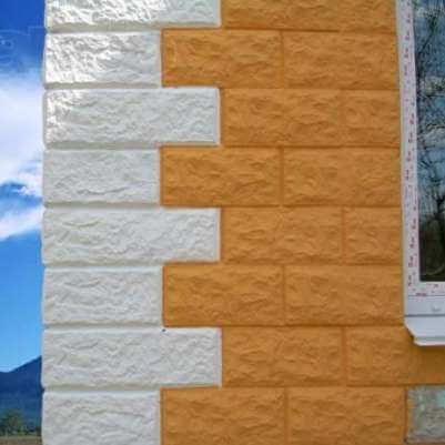 стена дома из теплоблока теплостена кремнегранита
