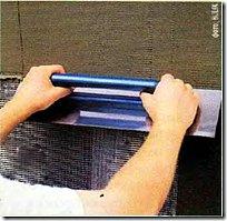 Монтаж армирующей сетки по утеплителю