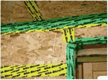 Герметизация стыков обшивки плитами ОСП (OSB) наружных стен дома