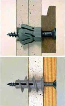 Виды крепежа предметов и конструкций к каркасной перегородке из гипсокартона или ГВЛ