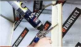 Герметизация стыков плит утеплителя из пенопласта или пенополистирола