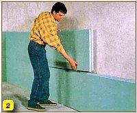 приклейка к стене плит утеплителя