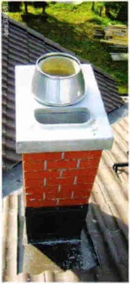 Керамический дымоход для газового котла с закрытой камерой сгорания