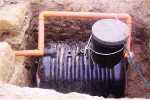 выгребная яма накопительный септик под откачку канализации пластмассовый полиэтиленовый.