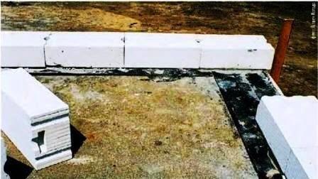 Кладка однослойной наружной стены из газобетонных блоков