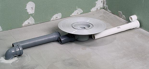 душевая в ванной слив (трап) в полу