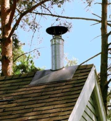 Стальной коаксиальный дымоход - труба в трубе, для газового котла на крыше частного дома