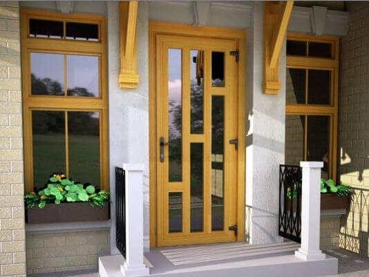 двери входные уличные из металл пластика ПВХ