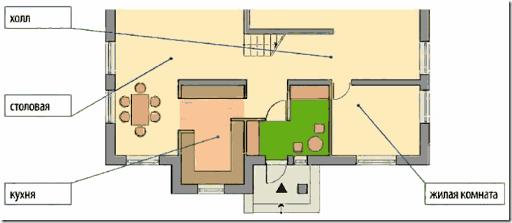Тамбур - прихожая в частном доме