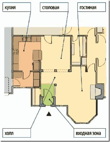 Частный дом без тамбура на входе