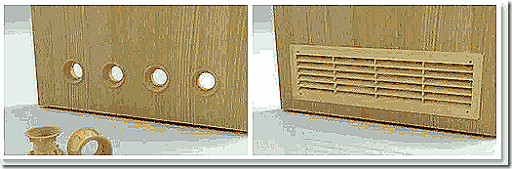 Дверь с отверстиями для естественной вентиляции