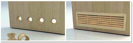Переточные отверстия вентиляции в двери частного дома