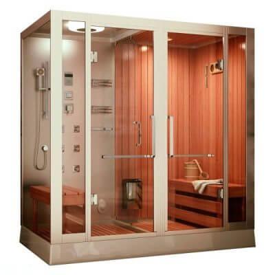 Кабинка душ и сауна в ванной комнате