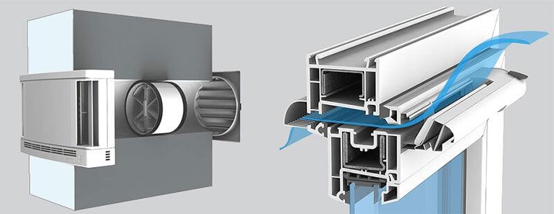 Приточные клапаны естественной вентиляции в доме квартире