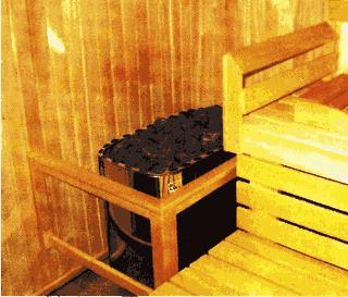 Печь - каменка в домашней мини сауне