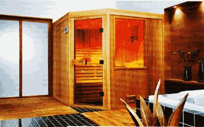 Баня сауна в ванной комнате квартиры, дома