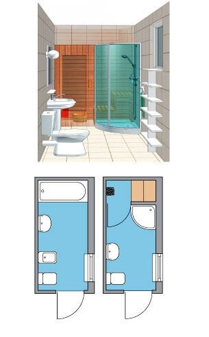Мини сауна в ванной комнате вместо ванны