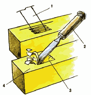 Выдалбливание пазов в балках ломанной крыши дома с мансардой