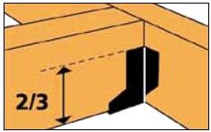 Стальной перфорированный крепеж - высота опоры бруса
