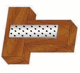 Стальная перфорированная крепежная пластина для бруса