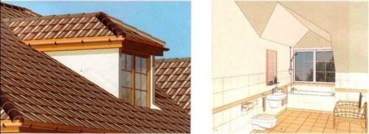 Окно - люкарна с трехскатной крышей в мансардном этаже