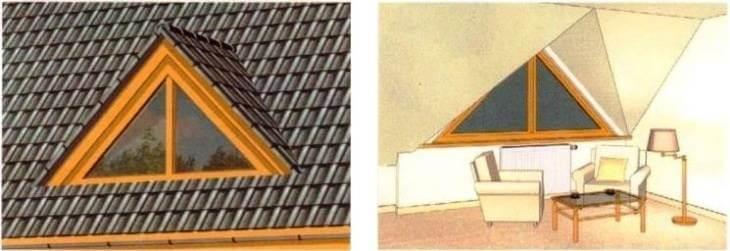 Окно - люкарна в крыше мансарды