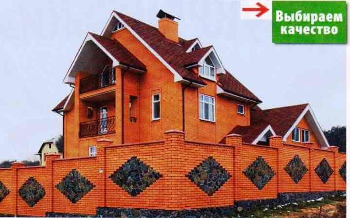 Клинкерная облицовка фасада дома кирпичом