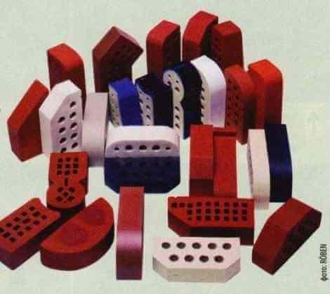 Фасонные и глазурованные клинкерные кирпичи разного цвета