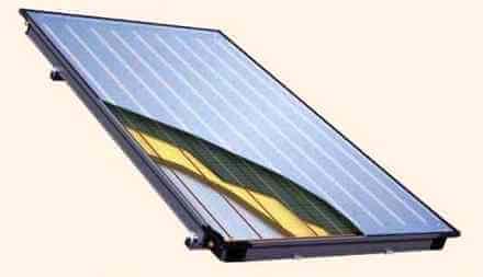 Плоский солнечный коллектор - водонагреватель
