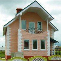 Дом, стена из теплоблока, теплостена, кремнегранита, полиблока