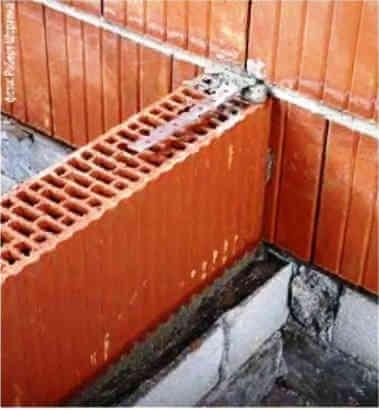 Кладка внутренних стен и перегородки из крупноформатных поризованных керамических блоков