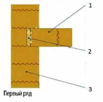Примыкание наружной и внутренней стен из крупноформатных керамических блоков