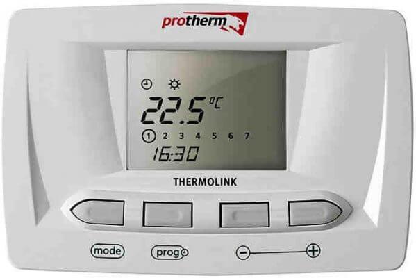 Электронный двухпозиционный программируемый комнатный терморегулятор — термостатProtherm Thermolink S