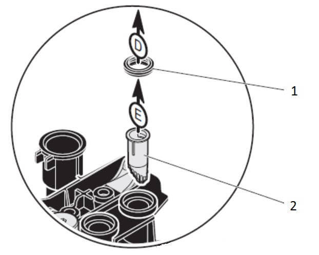 Фильтр теплообменника ГВС газового котла Protherm Gepard (Panther)