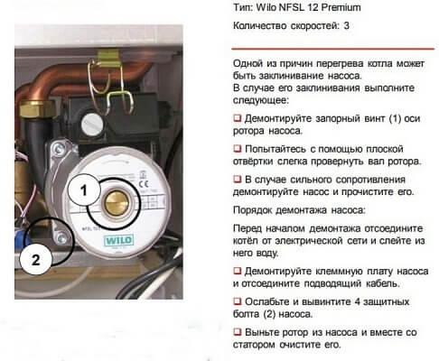Циркуляционный насос газового котла