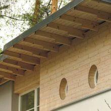 Карнизный свес крыши частного дома
