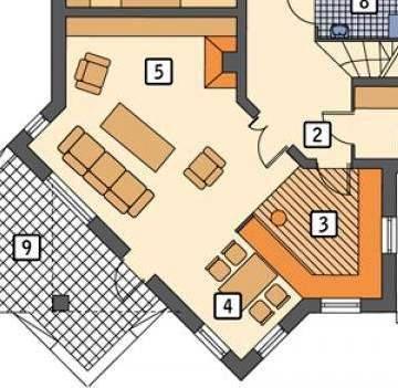 Открытая кухня студия совмещенная с гостиной и столовой в частном доме - открытая