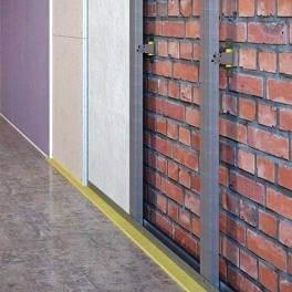 Звукоизоляция стен на пристенном каркасе