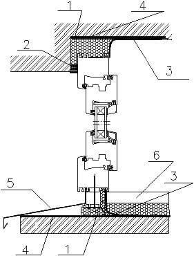 Схема установки, монтажа пластикового окна в проеме наружной стены дома